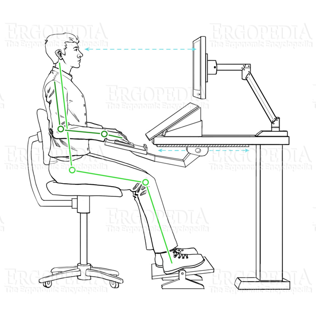 Ergonomic Workstation Graphic