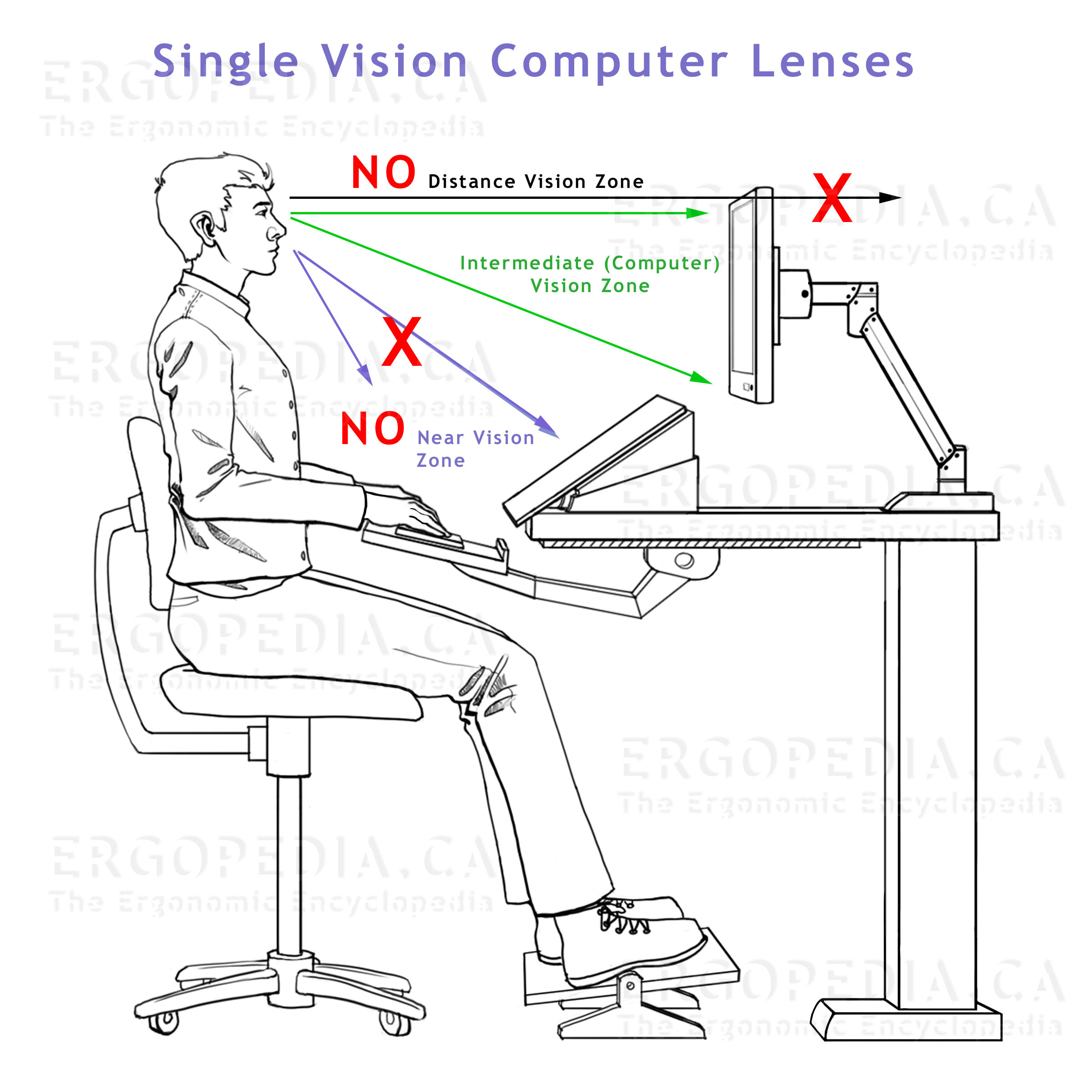 Graphic Showing Factors to be Considered when Working             with Computer Lenses